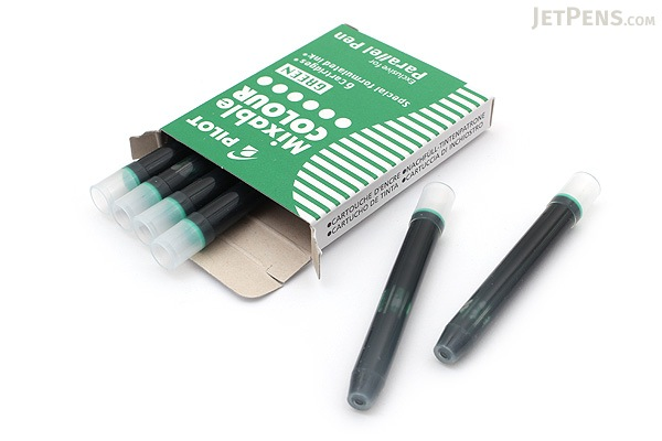 Pilot Parallel Pen Refill - Green - 6 Cartridges - PILOT ICP36GRN