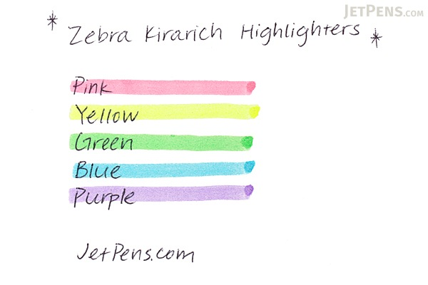 Zebra Kirarich Glitter Highlighter - 5 Color Set - ZEBRA WKS18-5C