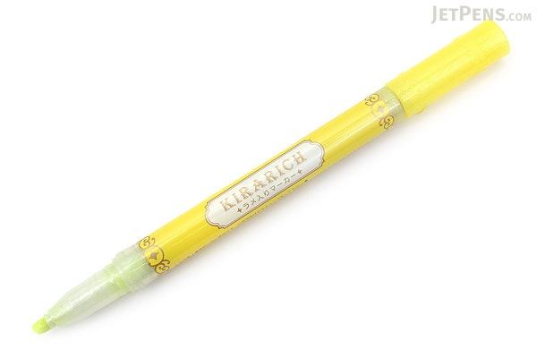 Zebra Kirarich Glitter Highlighter - Yellow - ZEBRA WKS18-Y