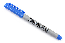 Sharpie Electro Pop Permanent Marker - Ultra Fine Point - Techno Blue - SANFORD 1927331