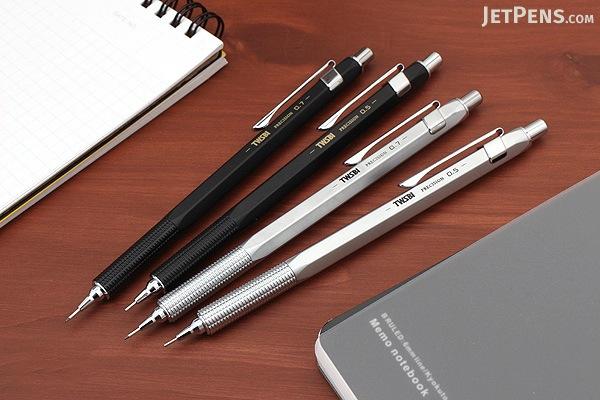 TWSBI Precision Mechanical Pencil - Fixed Tip - 0.7 mm - Silver - TWSBI M7440860