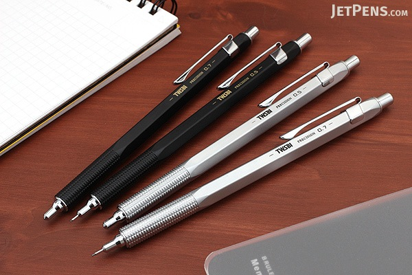 TWSBI Precision Mechanical Pencil - Retractable Tip - 0.5 mm - Silver - TWSBI M7440890