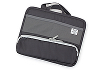 Lihit Lab Smart Fit Stand Pocket Bag in Bag - A6 - Black (Gray) - LIHIT LAB A-7662 -24