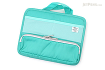 Lihit Lab Smart Fit Stand Pocket Bag in Bag - A6 - Green - LIHIT LAB A-7662 -7