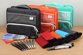 New Products: Shaker Mechanical Pencils, TWSBI Mechanical Pencils, Nomadic Travel Wallets, Lihit Lab Bag-in-Bags, Sharpies, Erasers, and More!