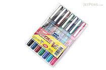 Pilot Precise V5 Rollerball Pen - Extra Fine - 7 Color Set - PILOT PV5C7001-P