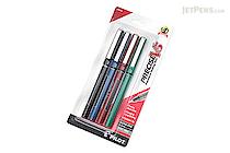 Pilot Precise V5 Rollerball Pen - Extra Fine - 4 Color Set - PILOT PV5C4001-6PK