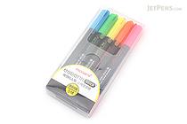 Monami Essenti Stick Dry Highlighter - Bright - 5 Color Set - MONAMI ESSENTI STICK BRT 5