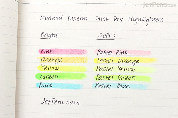 Monami Essenti Stick Dry Highlighter - Soft - Pastel Yellow - MONAMI ESSENTI STICK SOFT YL