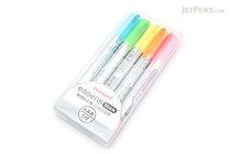 Monami Essenti Stick Dry Highlighter - Soft - 5 Color Set - MONAMI ESSENTI STICK SOFT 5