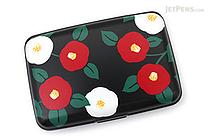 Kurochiku Japanese Pattern Accordion Card Case - Tsubaki (Camellia) - KUROCHIKU 71406601