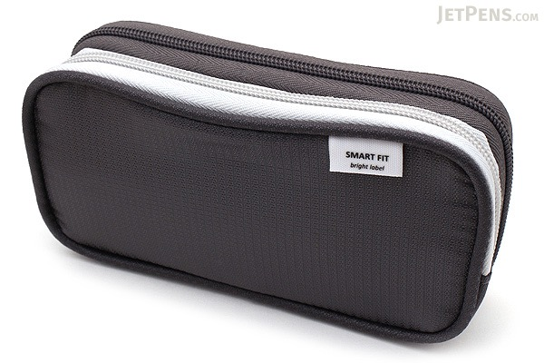 Lihit Lab Smart Fit Double Pen Case - Small - Black (Gray) - LIHIT LAB A-7660-24