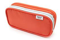 Lihit Lab Smart Fit Double Pen Case - Small - Orange - LIHIT LAB A-7660-4