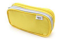 Lihit Lab Smart Fit Double Pen Case - Small - Yellow - LIHIT LAB A-7660-5