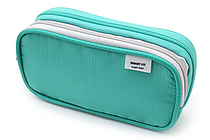 Lihit Lab Smart Fit Double Pen Case - Small - Green - LIHIT LAB A-7660-7