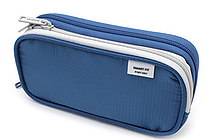 Lihit Lab Smart Fit Double Pen Case - Small - Blue - LIHIT LAB A-7660-8