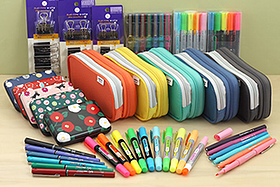 New Products: Lihit Lab Pen Cases, Gel Highlighters, Felt Tip Markers, Cute Card Cases, Rollerball Pens, Cool Binder Clips, and More!