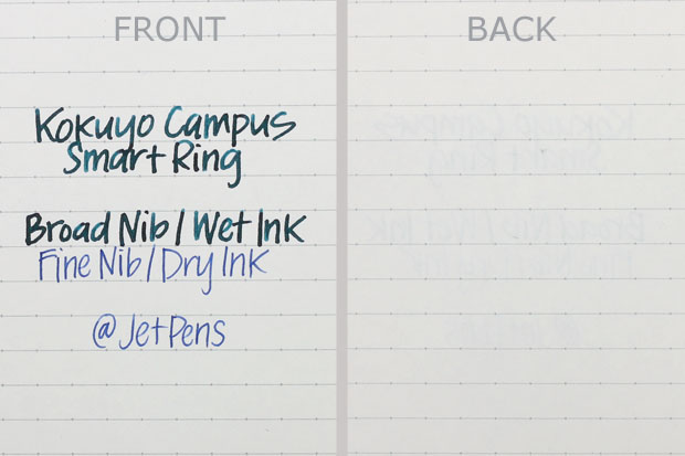 Kokuyo Campus Smart Ring Writing Sample