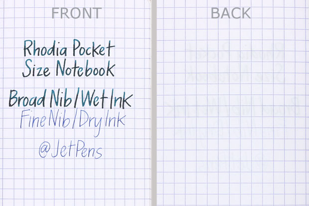 Rhodia Pocket Size Notebook Writing Sample