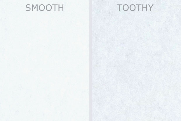 Smooth vs Toothy Paper