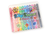 Yamato Colorix Silky Twister Water-Based Crayons - Fine - 12 Color Set - YAMATO CLST-12