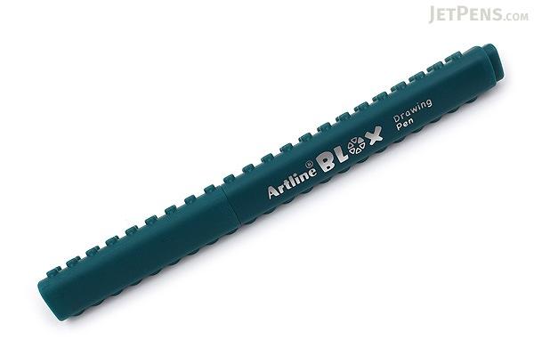 Shachihata Artline Blox Pen - 0.4 mm - Dark Green - SHACHIHATA KTX-200-DG