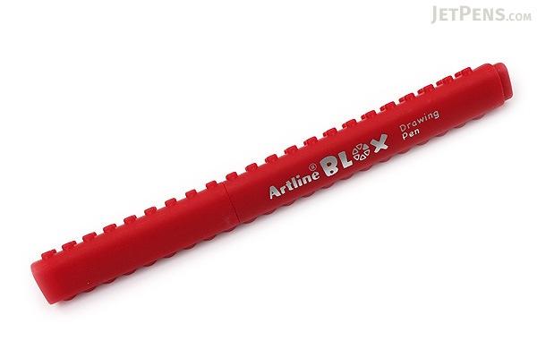Shachihata Artline Blox Pen - 0.4 mm - Red - SHACHIHATA KTX-200-RD