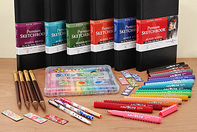 New Products: Fun Markers, Water-Based Crayons, Premium Sketchbooks, Artist Brushes, and More!