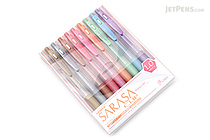 Zebra Sarasa Push Clip Gel Pen - Metallic Colors - 1.0 mm - 9 Color Set - ZEBRA JJE15-9CA