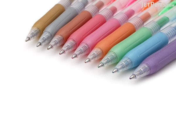 Zebra Sarasa Push Clip Gel Pen - Metallic Colors - 1.0 mm - 9 Color Set - ZEBRA JJE15-9CA