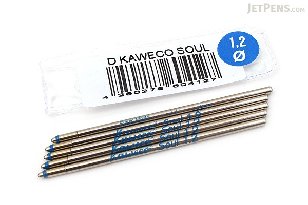 Kaweco Soul D1 Ballpoint Pen Refill - 1.2 mm - Blue - Pack of 5 - KAWECO 10000369