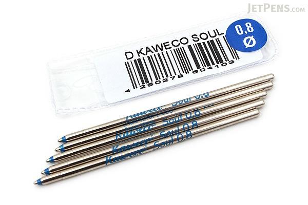 Kaweco Soul D1 Ballpoint Pen Refill - 0.8 mm - Blue - Pack of 5 - KAWECO 10000370