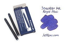 Staedtler Ink Cartridges - Royal Blue - Long - Pack of 6 - STAEDTLER 480 10-3