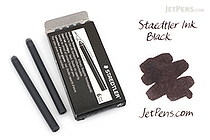 Staedtler Ink Cartridges - Black - Long - Pack of 6 - STAEDTLER 480 10-9