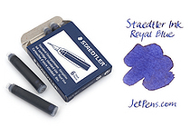 Staedtler Ink Cartridges - Royal Blue - Short - Pack of 6 - STAEDTLER 480-3