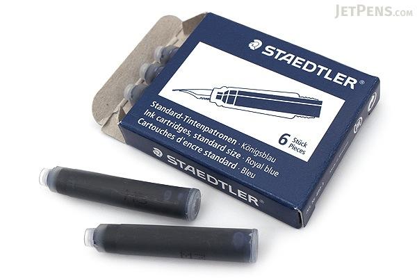 Staedtler Royal Blue Ink - Short - 6 Cartridges - STAEDTLER 480-3
