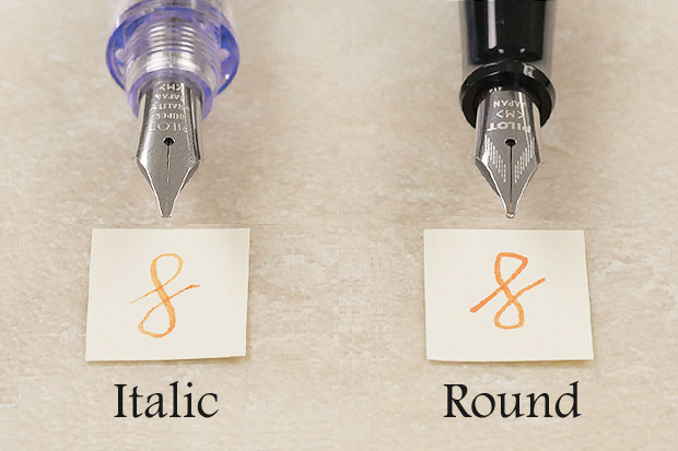 Italic nib vs round nib