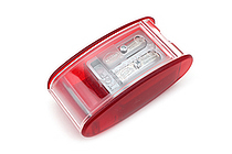 Kum Automatic Brake Long Point 2 Step Pencil Sharpener + 2 Spare Blades - Red - KUM 105.30.21