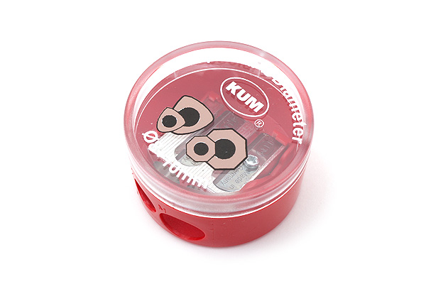 Kum Special Diameter Pencil Sharpener for Triangular & Hexagonal Body Pencils - 2 Sizes - 8 + 10 mm - Red - KUM 105.39.21 R