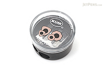 Kum Special Diameter Pencil Sharpener for Triangular & Hexagonal Body Pencils - 2 Sizes - 8 + 10 mm - Black - KUM 105.39.21 B