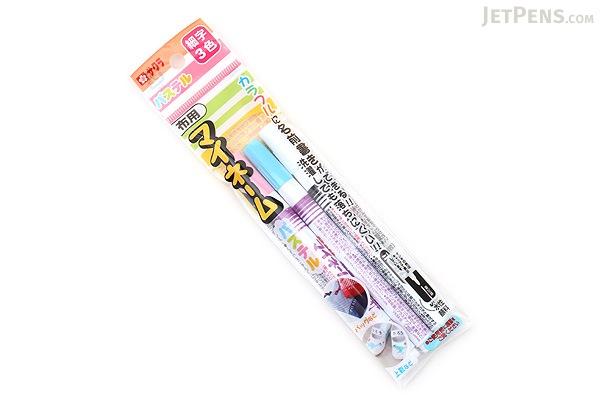 Sakura My Name Fabric Marker - Pastel 3 Color Set - Fine Point - SAKURA YKM3-P