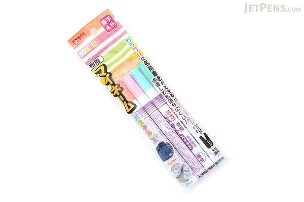 Sakura My Name Fabric Marker - Pastel 4 Color Set - Fine Point - SAKURA YKM4-P