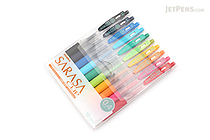 Zebra Sarasa Push Clip Gel Pen - 0.4 mm - 10 Color Set - ZEBRA JJS15-10CA