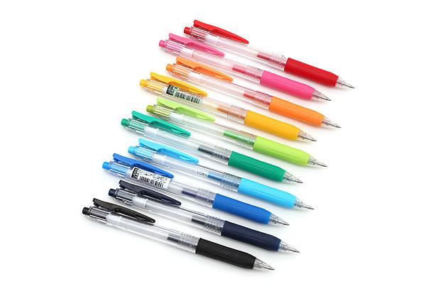 Zebra Sarasa Push Clip Gel Pen - 0.4 mm - 10 Color Set - ZEBRA JJS15-10CA