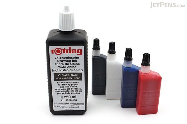 Rotring Black Drawing Ink - 250 ml Bottle - ROTRING S0216630