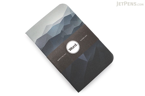 """Word Notebooks - Blue Mountain - 3.5"""" x 5.5"""" - Pack of 3 - WORD NOTEBOOKS W-BLUEMOUNTAIN"""