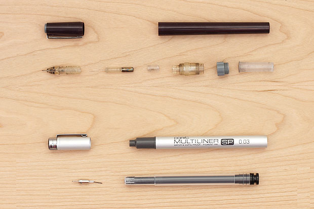 Inside a Technical Drawing Pen