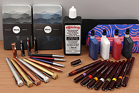 New Products: Karas Kustoms Pen Bodies, Word Notebooks, Rotring Isograph Pens and Ink, Jinhao Fountain Pens, Baggu Pencil Cases, and More!