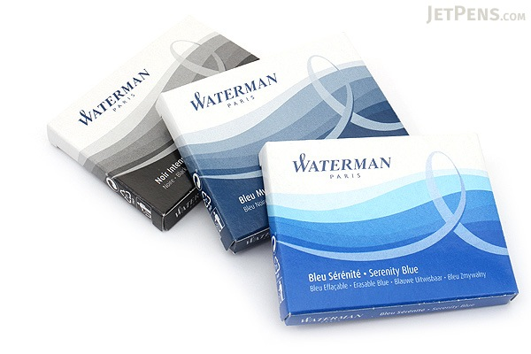 Waterman Intense Black Ink - Long - 8 Cartridges - WATERMAN S0712991