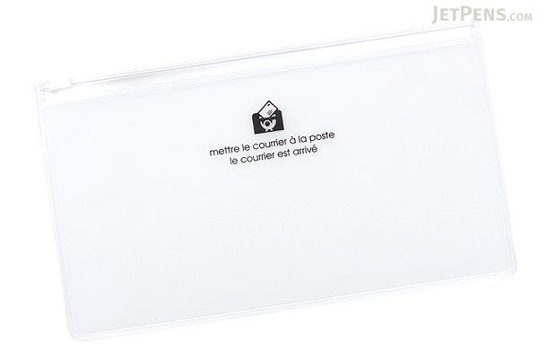 Etranger di Costarica Zipper Case - Pen Size - Transparency Clear - ETRANGER DI COSTARICA ZIP-PN-61